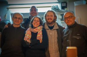 Avec Frère Andrea et sa communauté